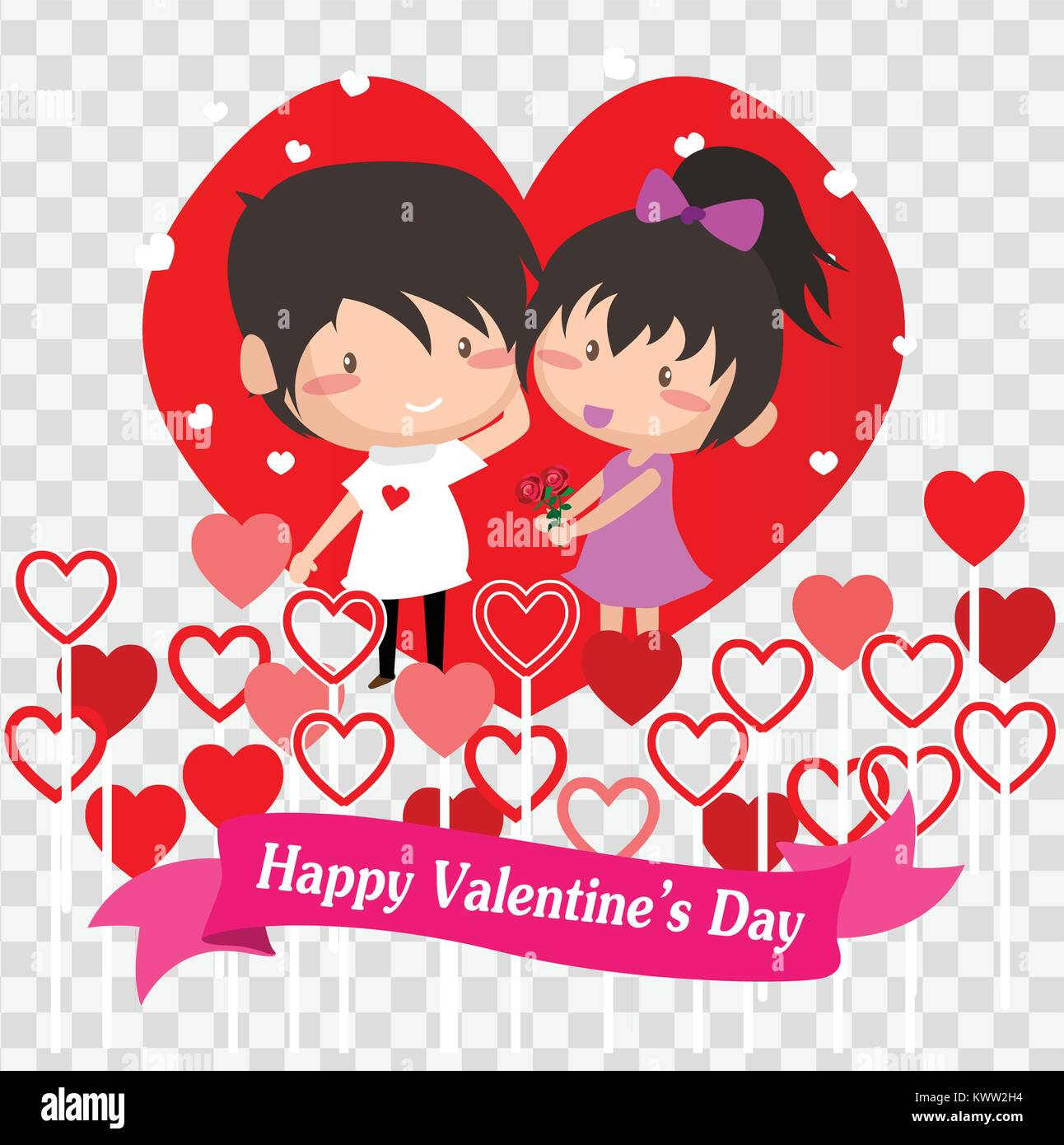 Boy And Girl Love For Valentine S Day On Happy Valentine S Day And