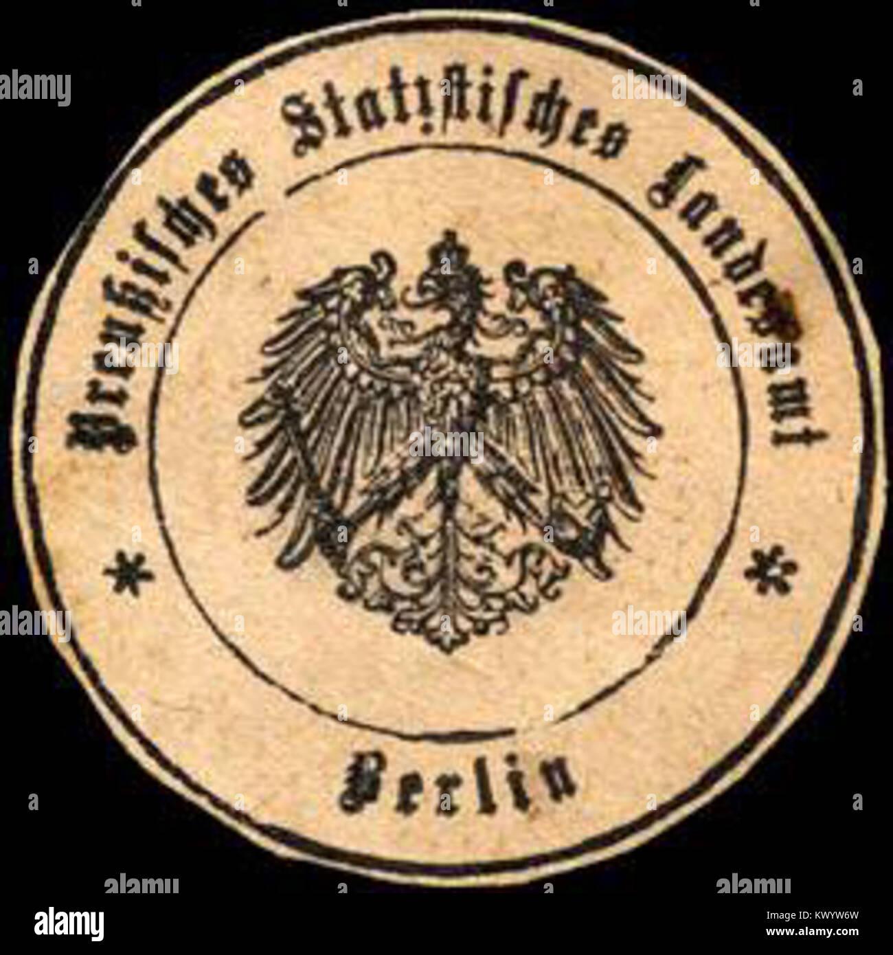 Siegelmarke Preußisches Statistisches Landesamt - Berlin W0205260 ...