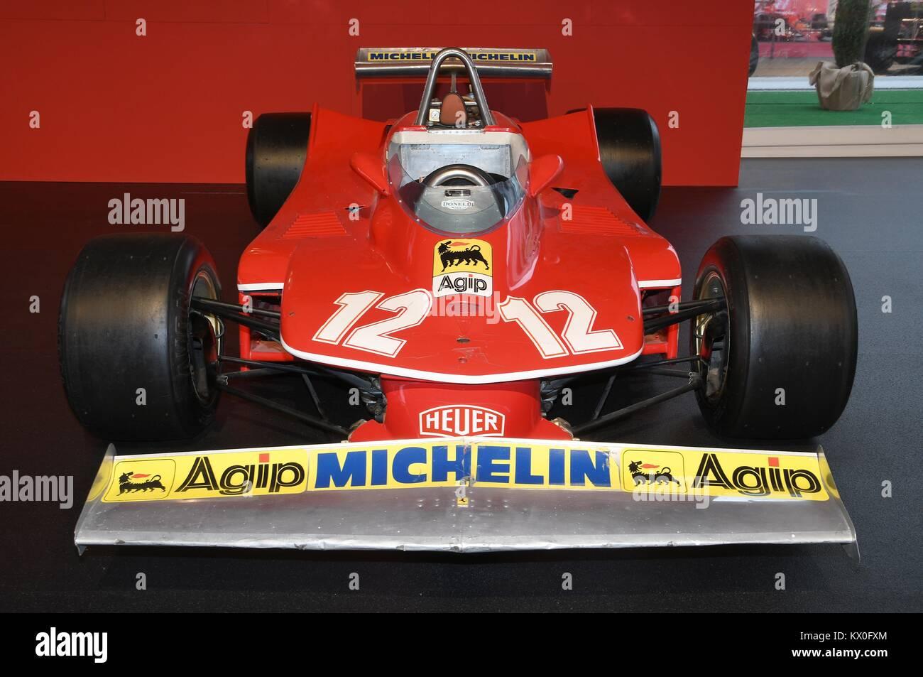 MUGELLO, IT, October, 2017: Ferrari F1 312 T4 1979 Of Gilles Villeneuve