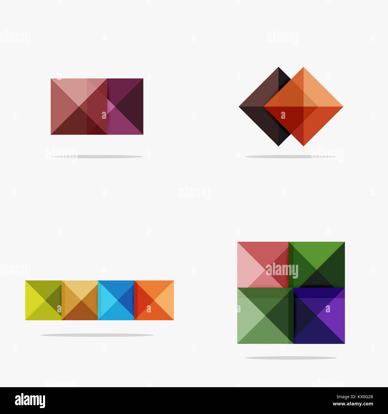 blank abstract squares background infographic template with place