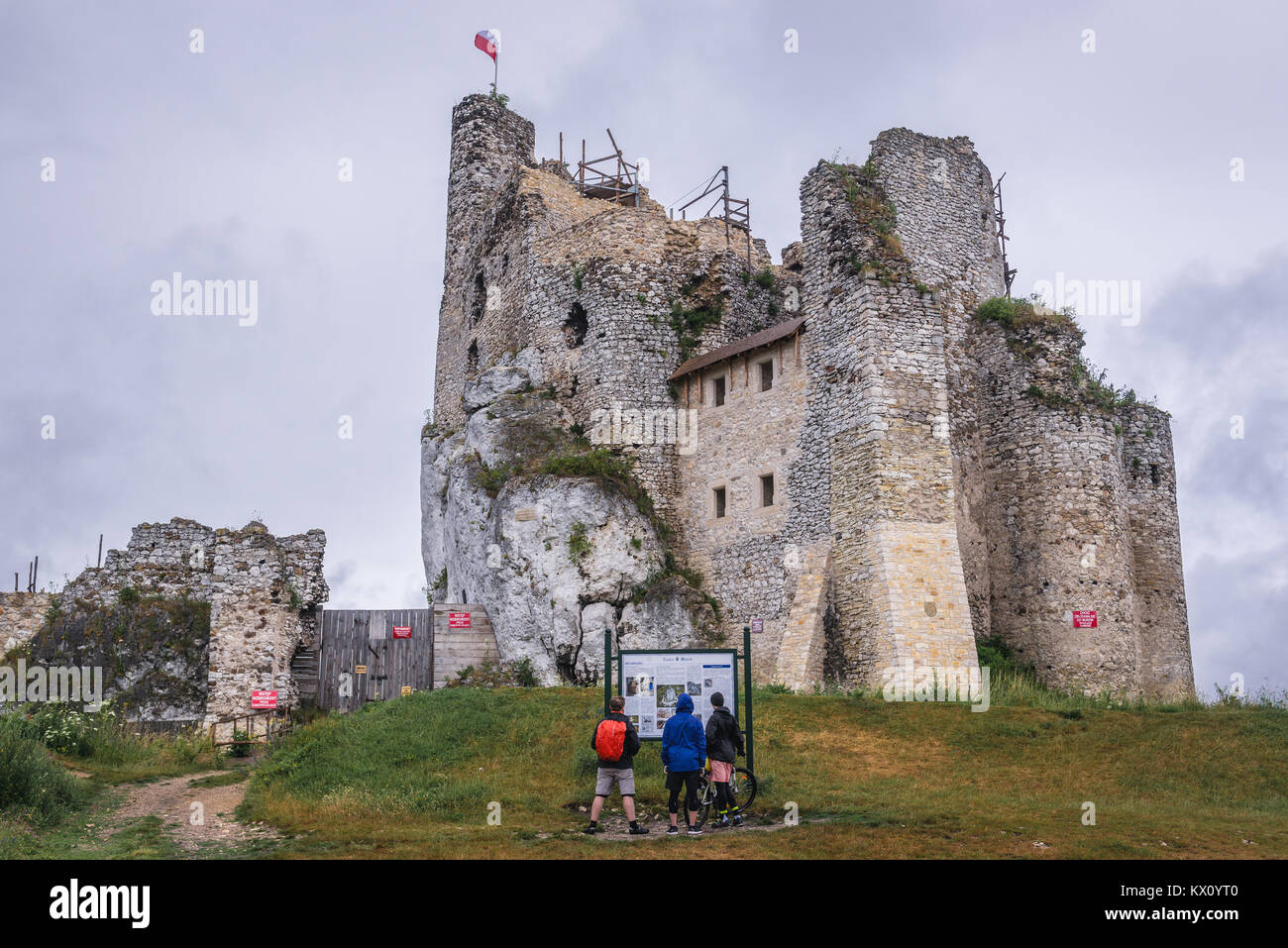 Ruins Of 14th Century Castle In Mirow Village Part The Eagles Nests System Silesian Voivodeship Southern Poland