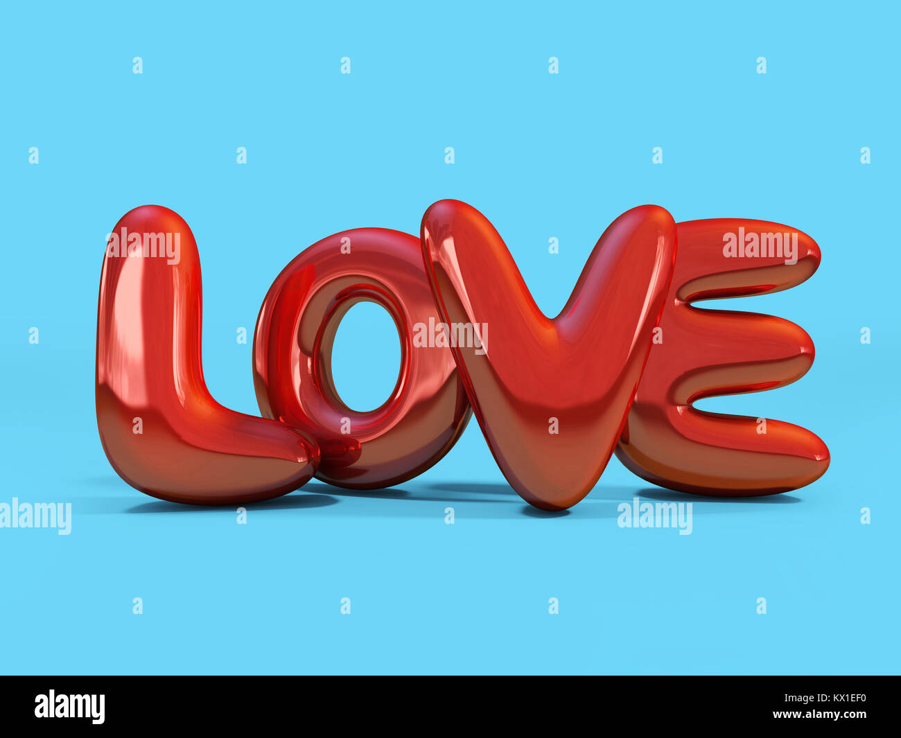 Letters love heart symbol 3d stock photos letters love heart red inflatable word love over background with reflection 3d rendering stock image biocorpaavc Gallery