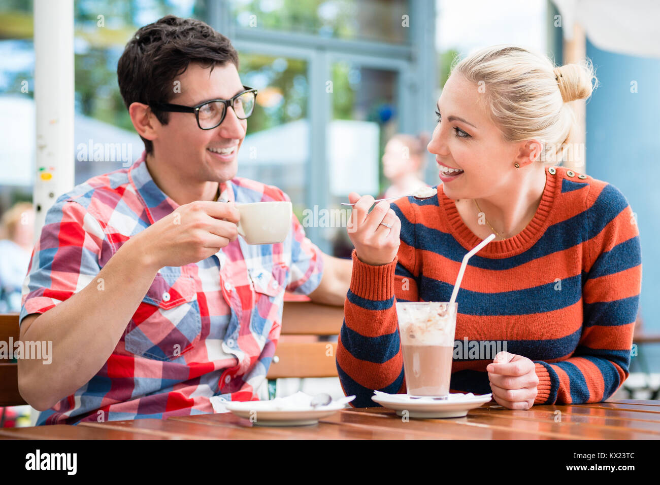 germany couple cafe stock photos germany couple cafe stock images alamy. Black Bedroom Furniture Sets. Home Design Ideas
