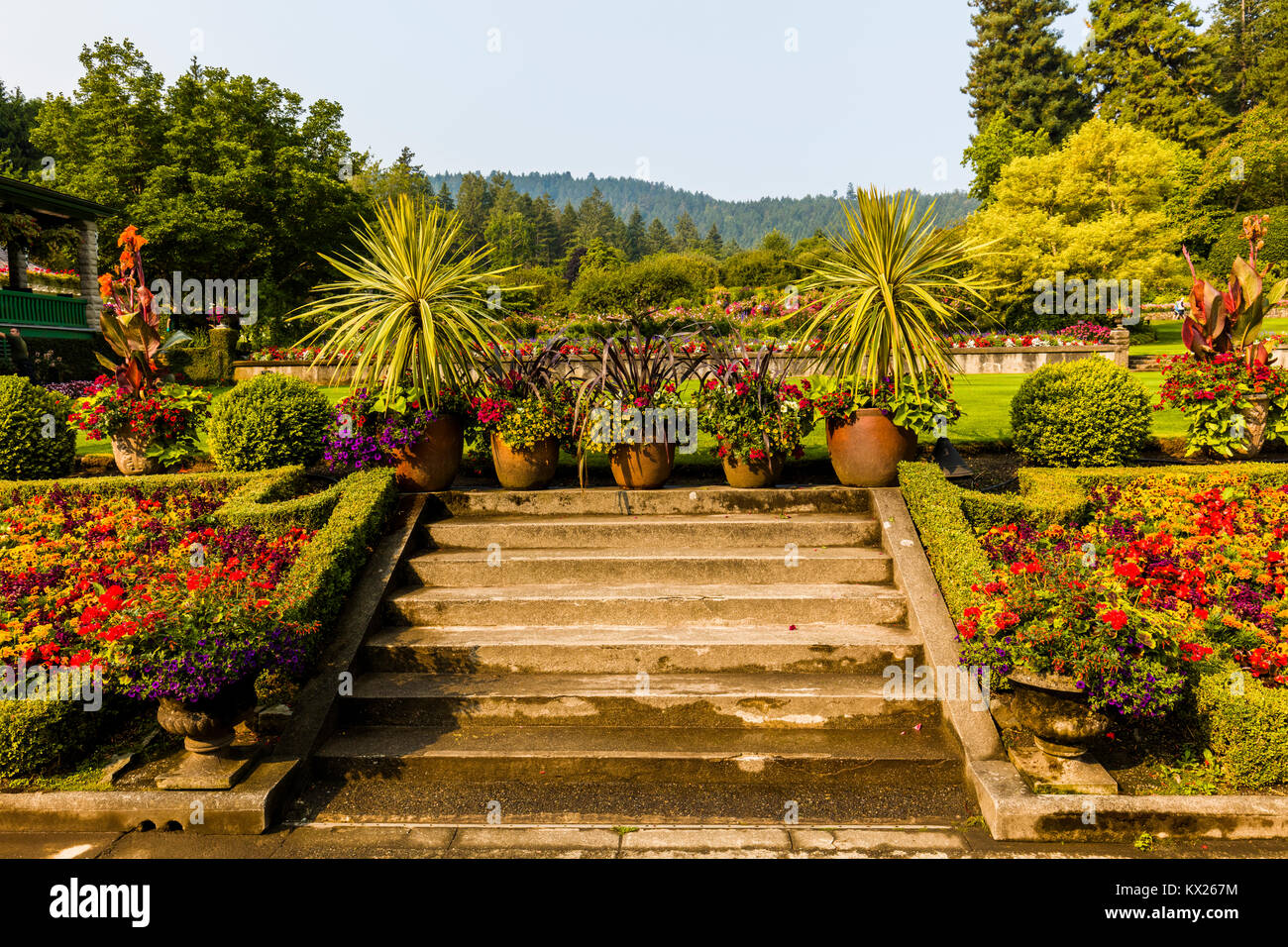 Butchart Gardens in Victoria, British Columbia, Canada a National ...