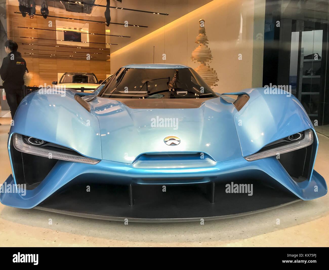Shanghai, Shanghai, China. 8th Jan, 2018. .The electric supercar Nio ...