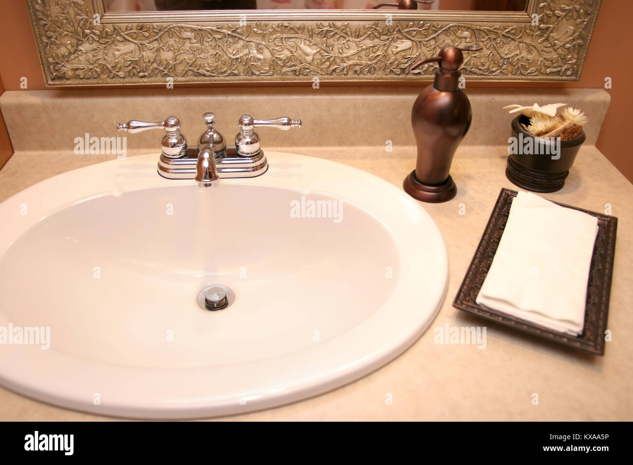 Apartment Bathroom Faucet Stock Photos & Apartment Bathroom Faucet ...