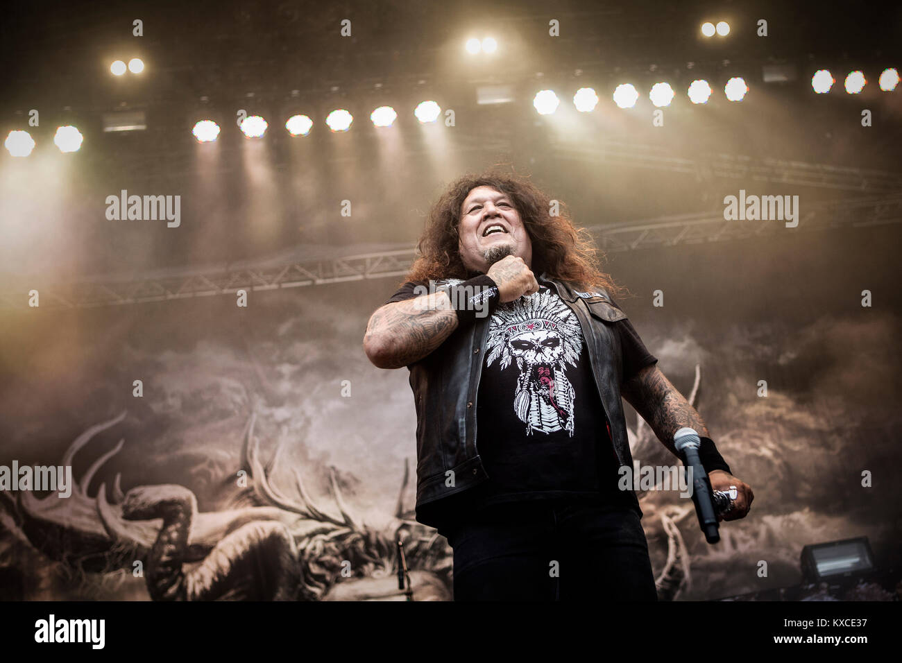 The American Trash Metal Band Testament Performs A Live Concert At Danish Heavy Festival Copenhell 2013 In Copenhagen Is Often Credited