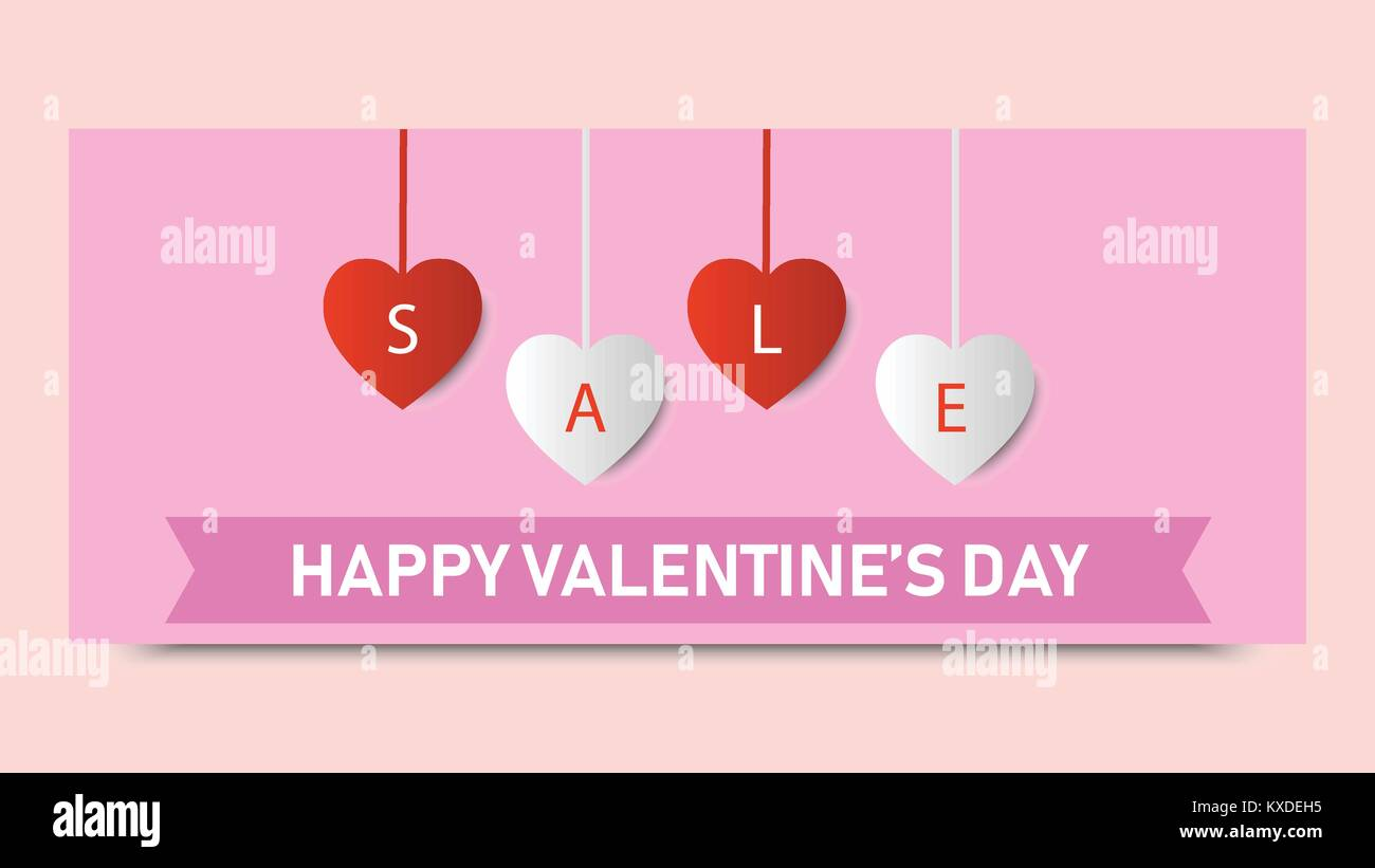Valentine S Day Sale Background Banner Template Holiday Discount