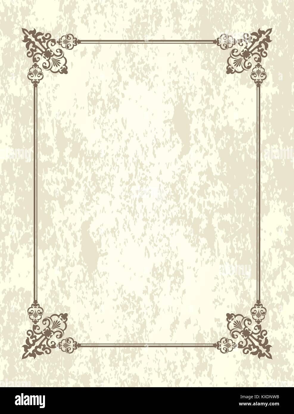 Old Frame With Blank Space For Text Retro Vintage Greeting Card