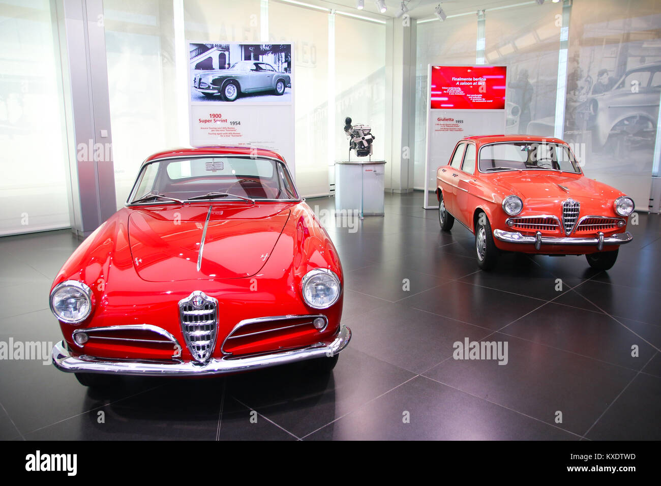 alfa romeo giulietta sprint and sedan models on display at the stock