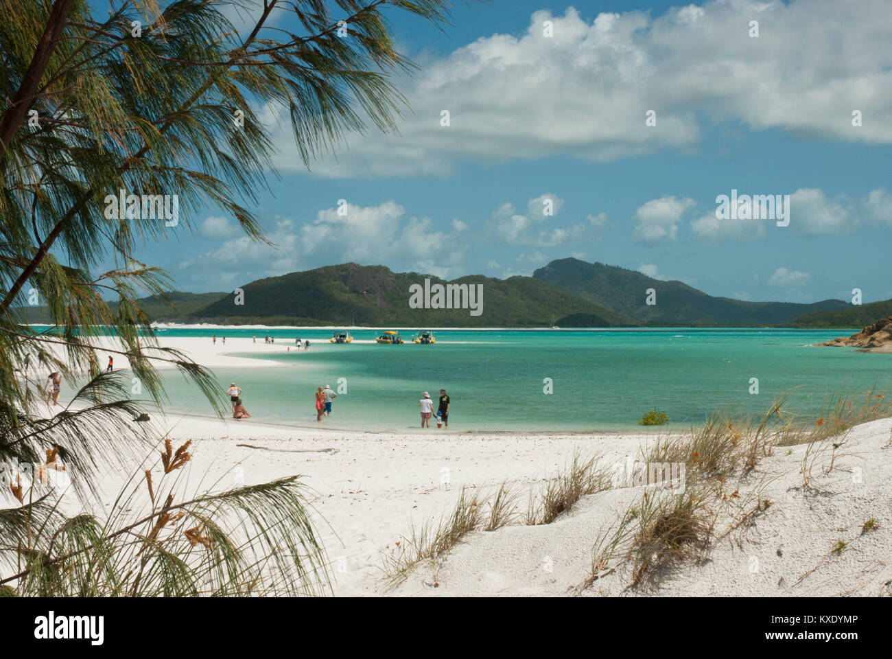 Rain Beach Emerald Coast Blue Sea Australia Ocean Summer: White Coral Beach Stock Photos & White Coral Beach Stock