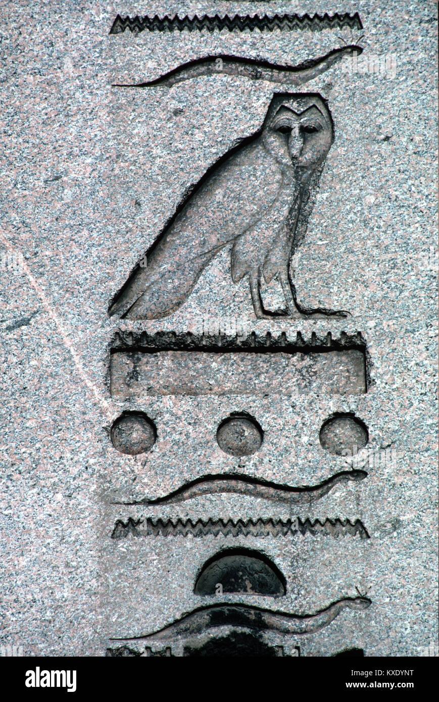 Ancient Egyptian Hieroglyphics Or Hieroglyphic Inscriptions And