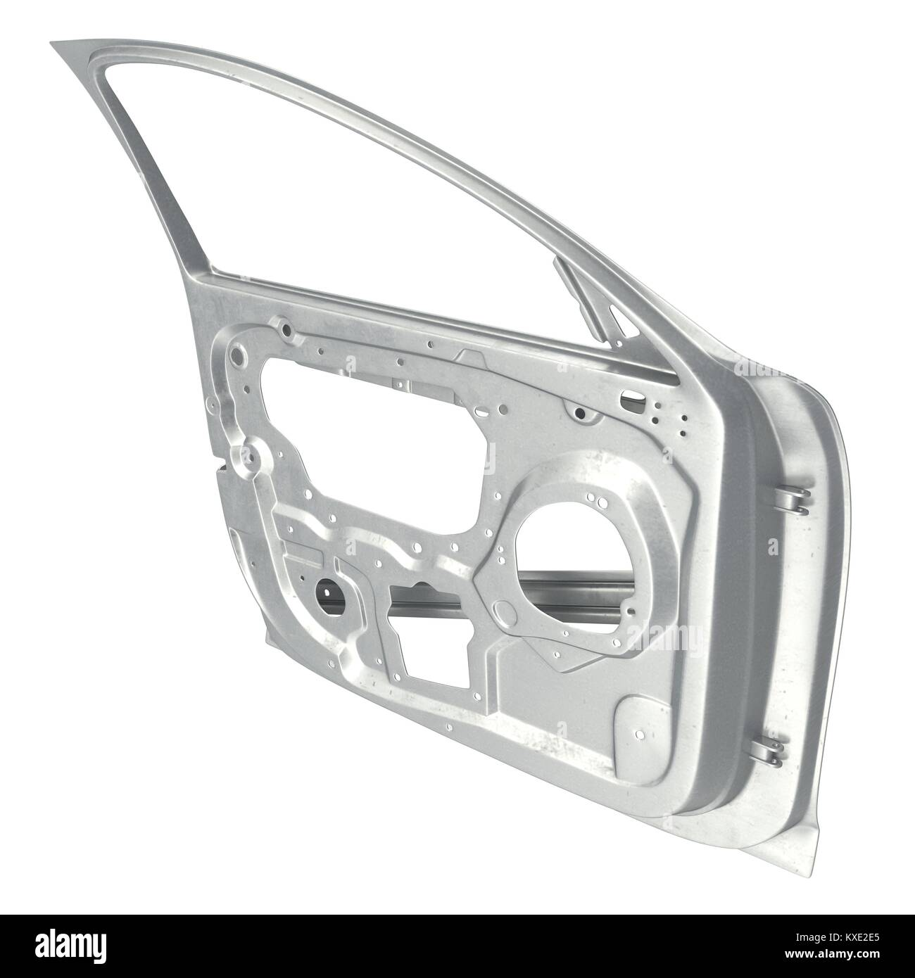 Car Door Frame on white. 3D illustration Stock Photo: 171183661 - Alamy