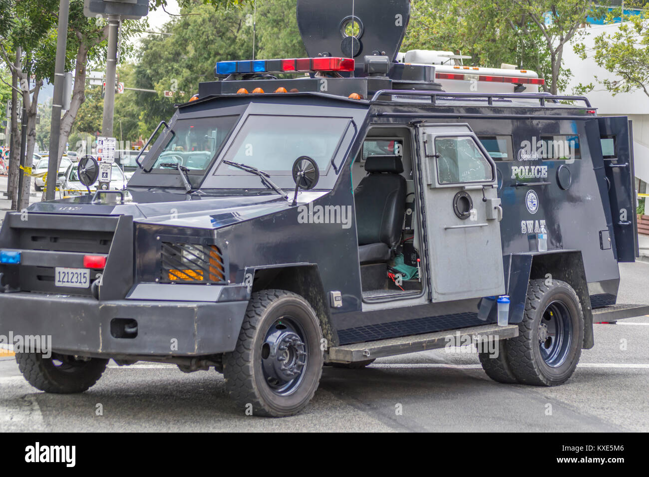 Armored police stock photos armored police stock images for Department of motor vehicles glendale ca
