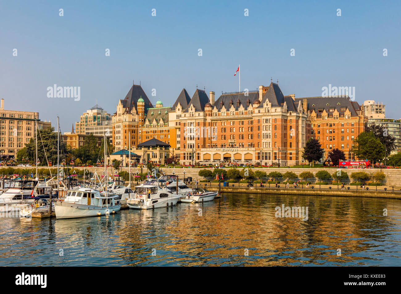 The Fairmont Empress Hotel in Victoria known as the Garden City on ...