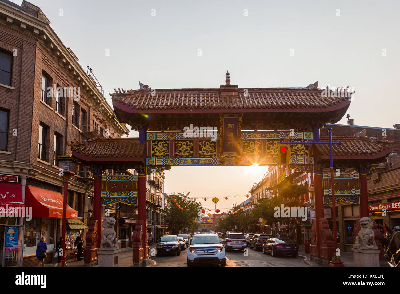 Chinatown in Victoria known as the Garden City on Vancouver Island ...
