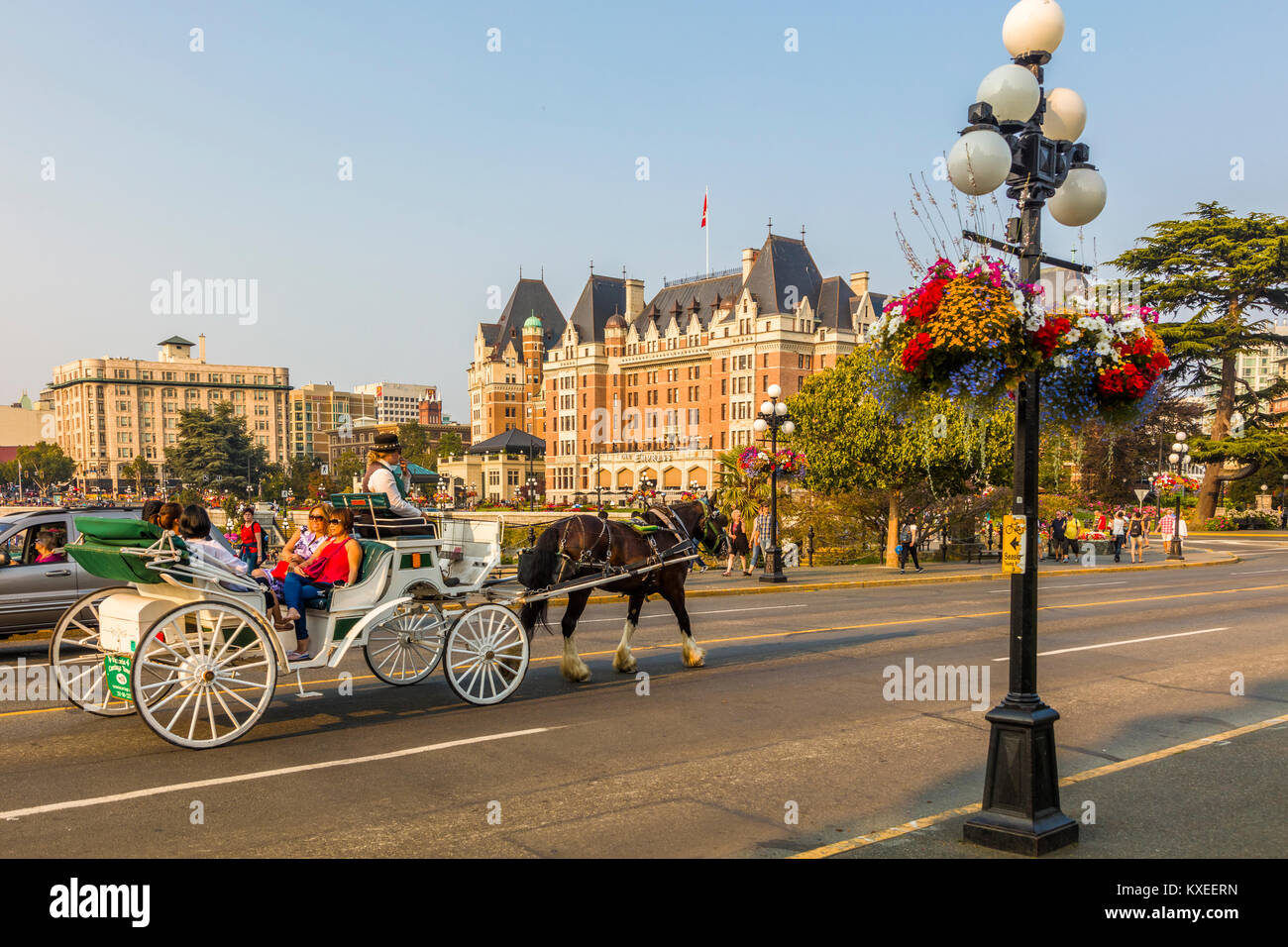 Horse-drawn carriage in Victoria known as the Garden City on Stock ...