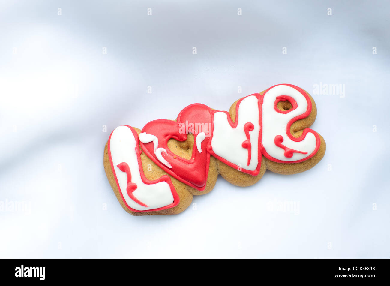Letter cookies for Valentine\'s day or for a wedding day on the Stock ...