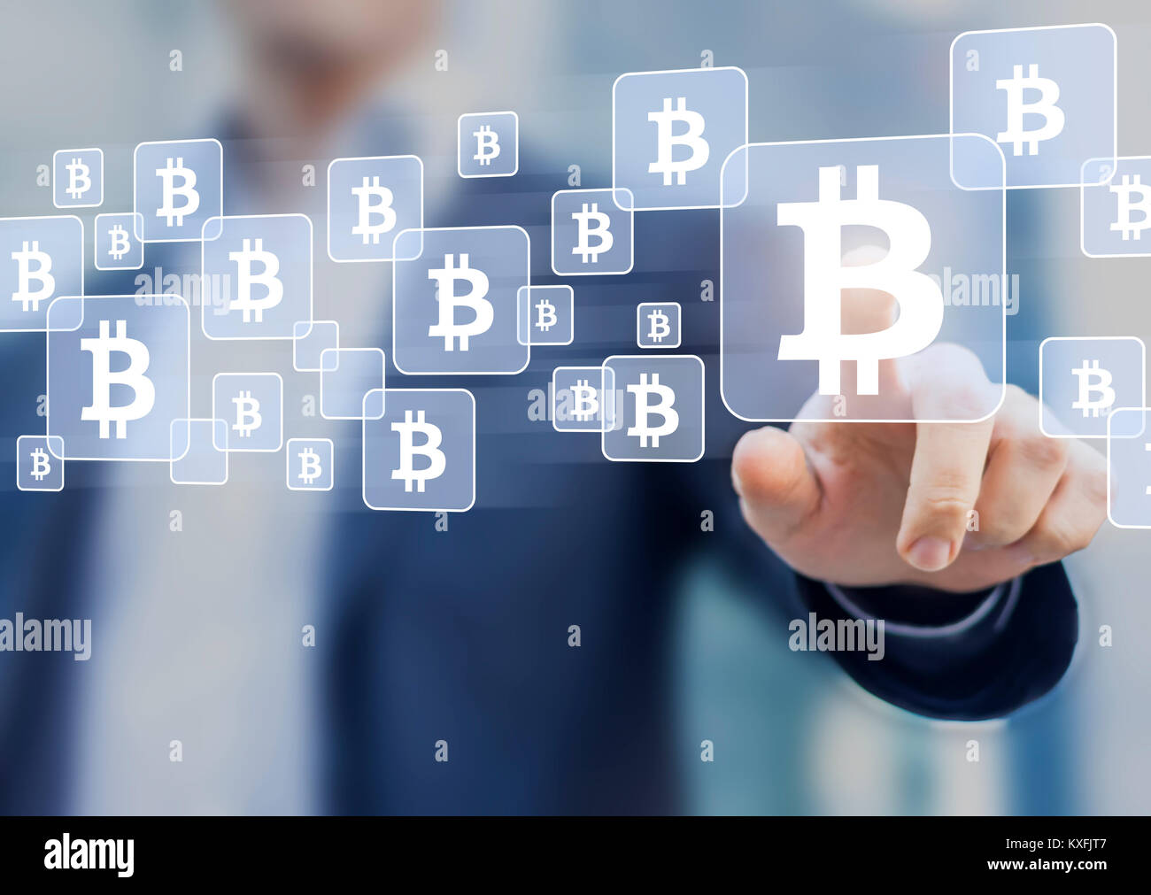 Bitcoin trading and investment concept with businessman touching bitcoin trading and investment concept with businessman touching btc currency symbol on virtual screen blockchain fintech technology buycottarizona Choice Image