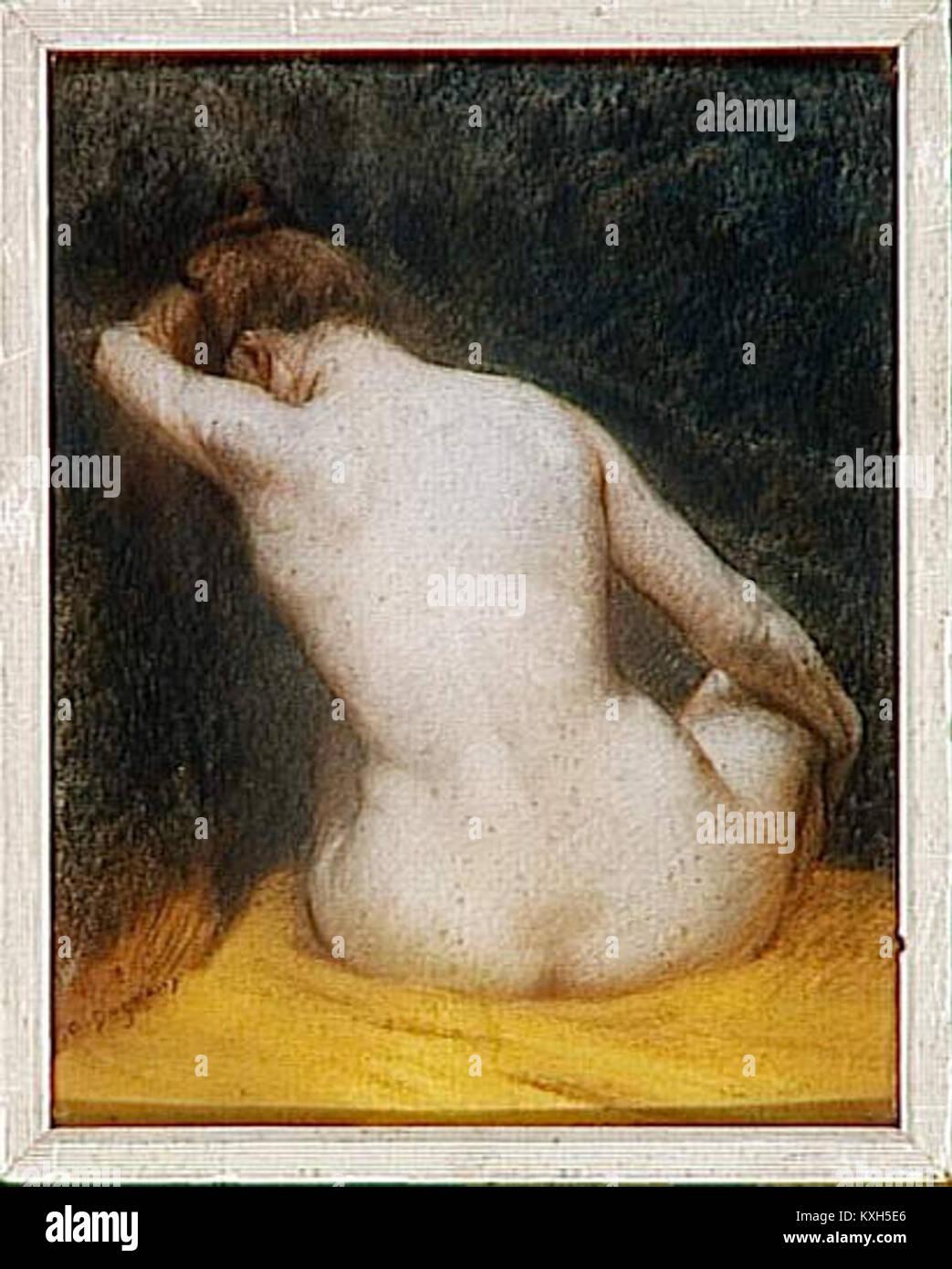 Femme Nue De Dos albert dagnaux - femme nue, assise de dos stock photo: 171251870 - alamy