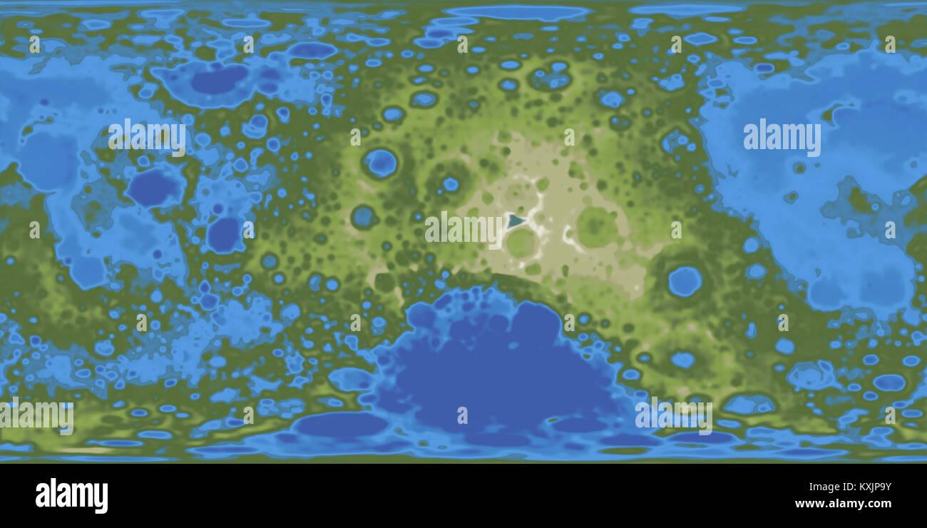 Terraformed moon map. 3D rendering Stock Photo: 171287031 - Alamy