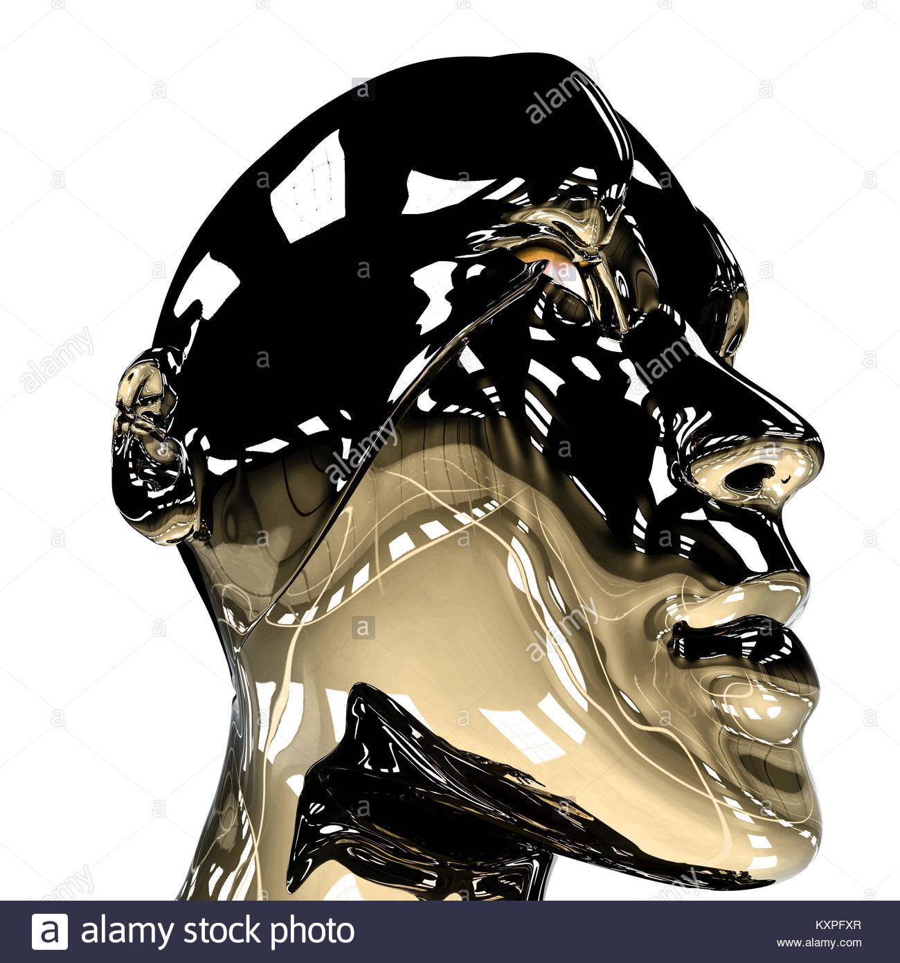 Android Robot Cyborg Ai Thinking Stock Photo 171369823 Alamy