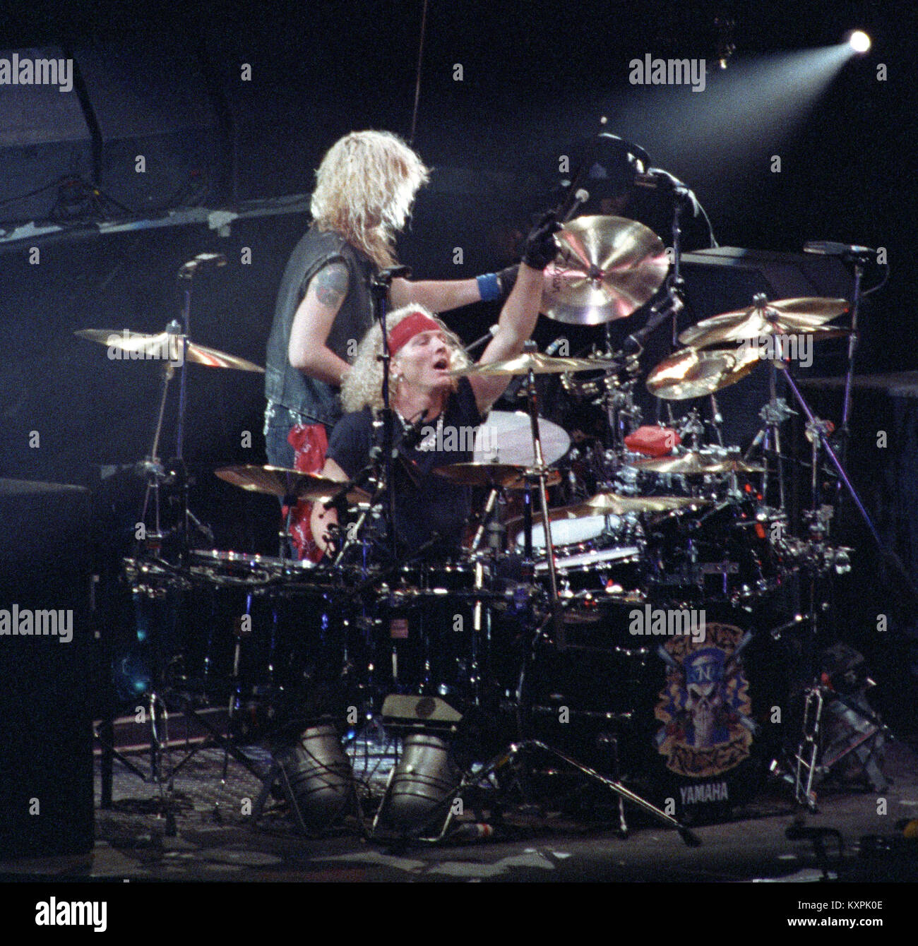 Guns And Roses Drummer Matt Sorum Performing Live During The Use