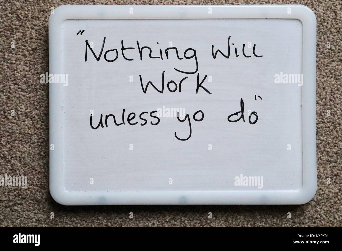 Meaningful Quotes | Whiteboard Saying Meaningful Quotes Of The Day To Inspire And Stock