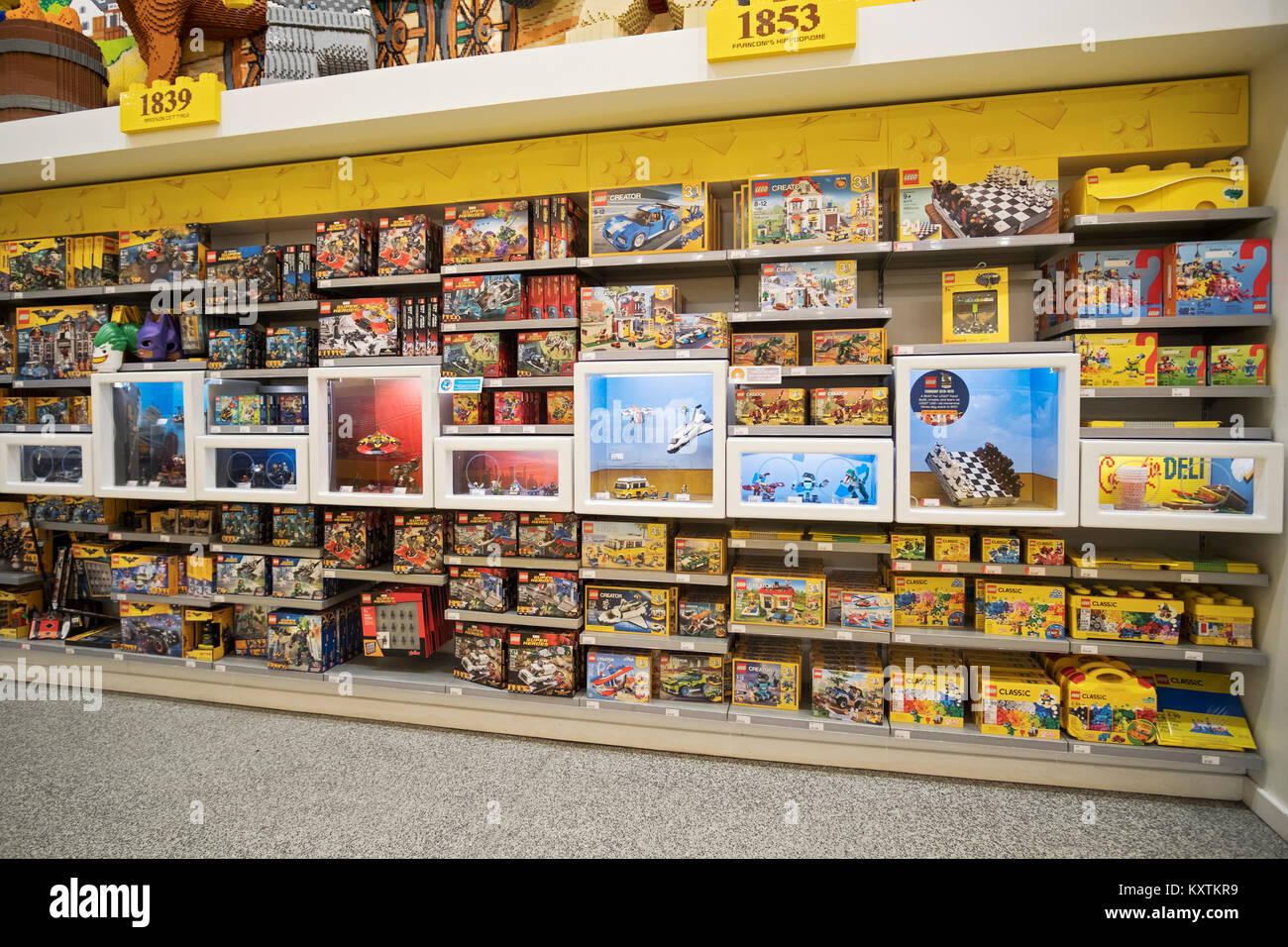 A Display Of Toys And Games At The Lego Store On Fifth Ave In Stock