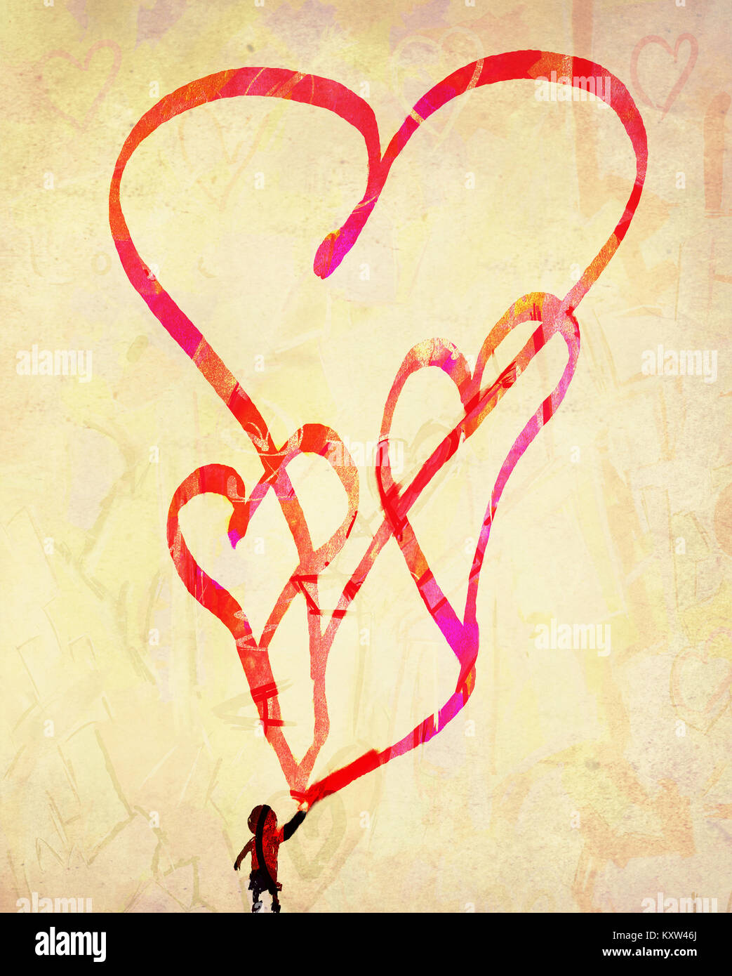 Concept or conceptual painted red abstract heart shape love symbol concept or conceptual painted red abstract heart shape love symbol dirty wall background metaphor biocorpaavc Choice Image