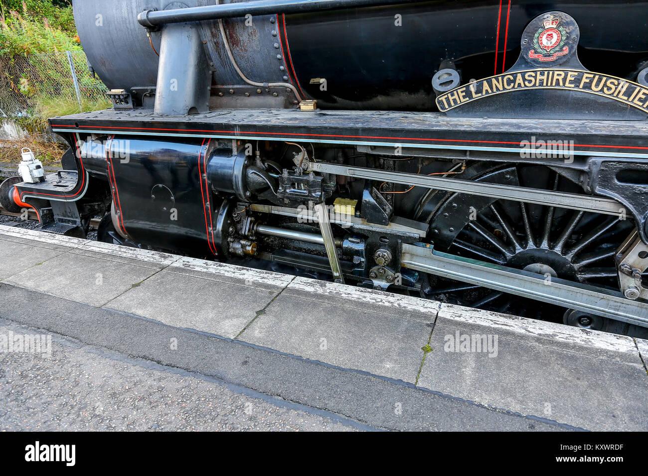 Black 5 Steam LocomotiveStock Photos and Images
