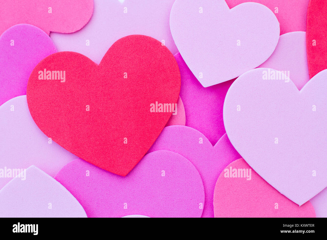 a valentine's day background of red and pink love hearts or heart