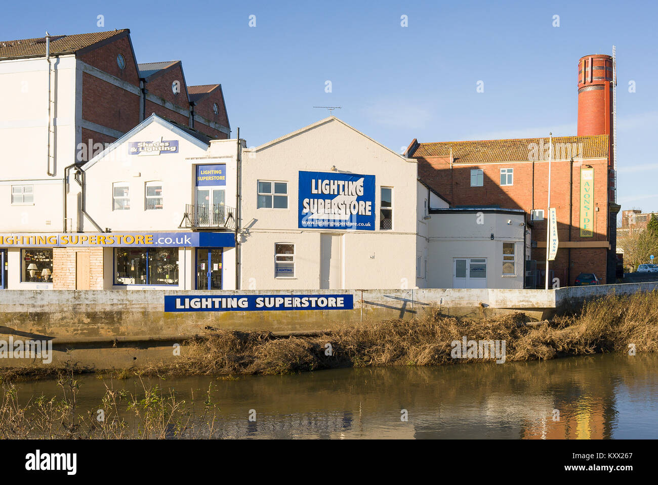 Lighting Superstore Is One Business Now Operating From A Former Wholesale Dairy Plant Beside The River Avon In Melksham Wiltshire England UK