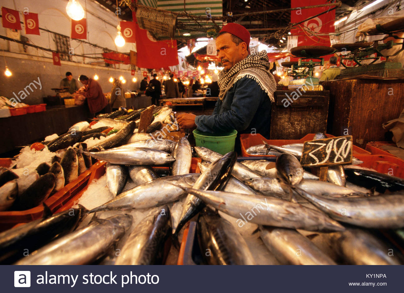 Marche aux poissons stock photos marche aux poissons for Vente poisson rouge tunisie