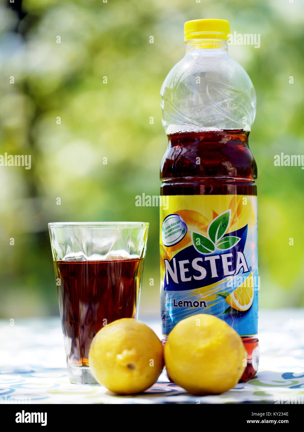Sofia Bulgaria November 16 2017 Nestea A Refreshing Made With Lemon Tea Real And Natural Flavor Is Brand Of Iced By Di