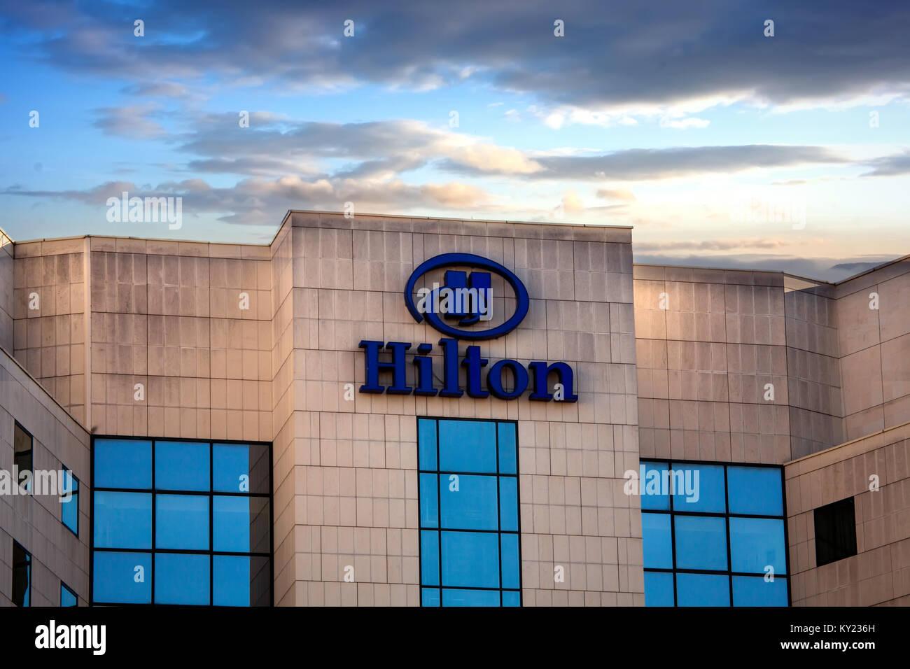 Sofia Bulgaria November 02 2017 Hilton Hotels And Resorts Logo