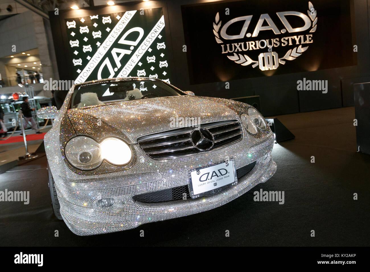 Chiba, Japan. 12th January, 2018. Car Dress Up Shop D.A.D Displays