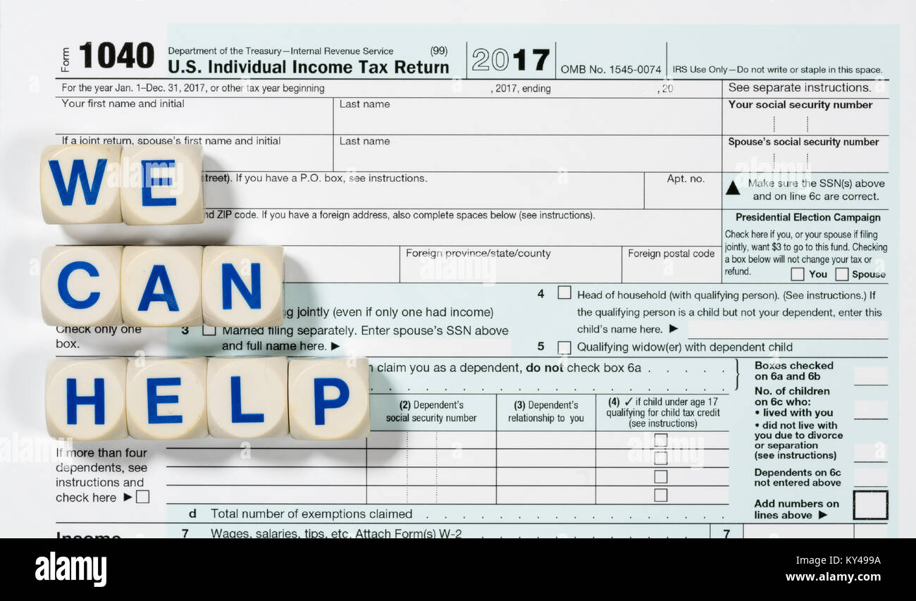 Macro close up of 2017 irs form 1040 with we can help letters macro close up of 2017 irs form 1040 with we can help letters falaconquin