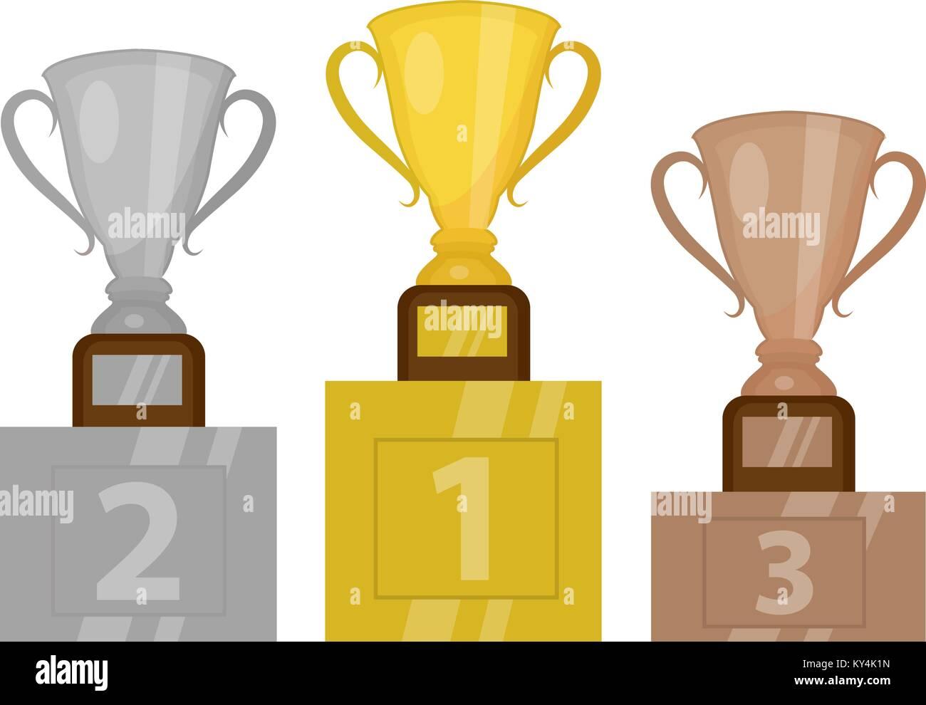 Trophy cup stock vector images alamy - Pedestal para plantas ...