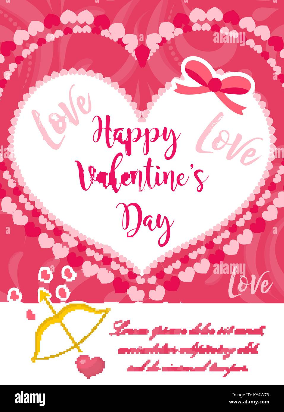 Happy Valentine S Day Cute Poster Invitation Greeting Card Stock