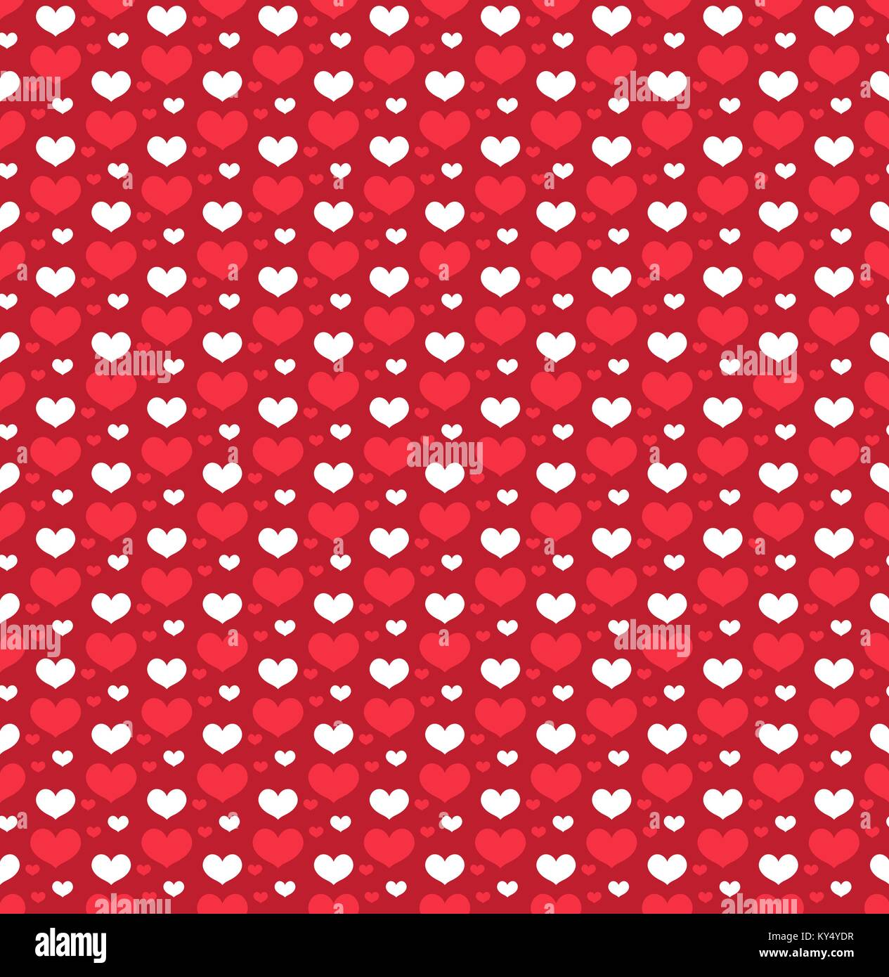 Heart Seamless Pattern Love Repeating Texture Endless Background Wallpaper Backdrop Vector Illustration