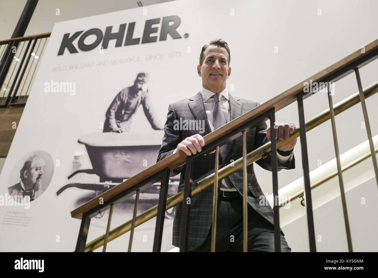 Los Angeles, California, USA. 5th Dec, 2017. David Kohler, CEO of ...