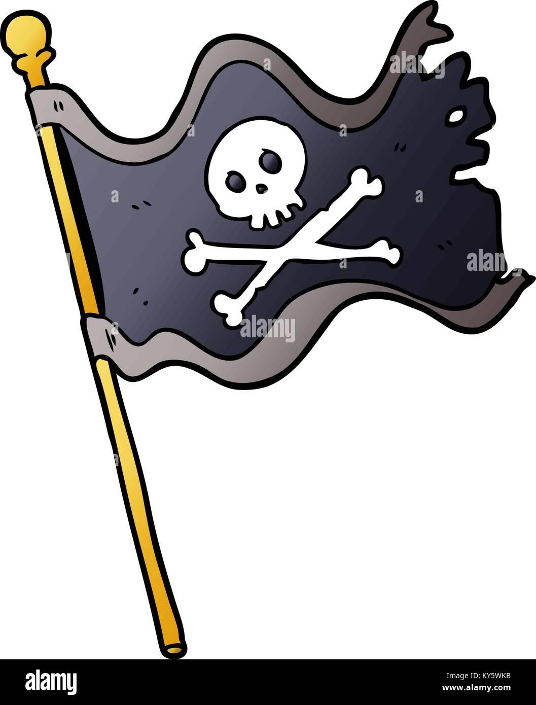 cartoon pirate flag stock vector art illustration vector image