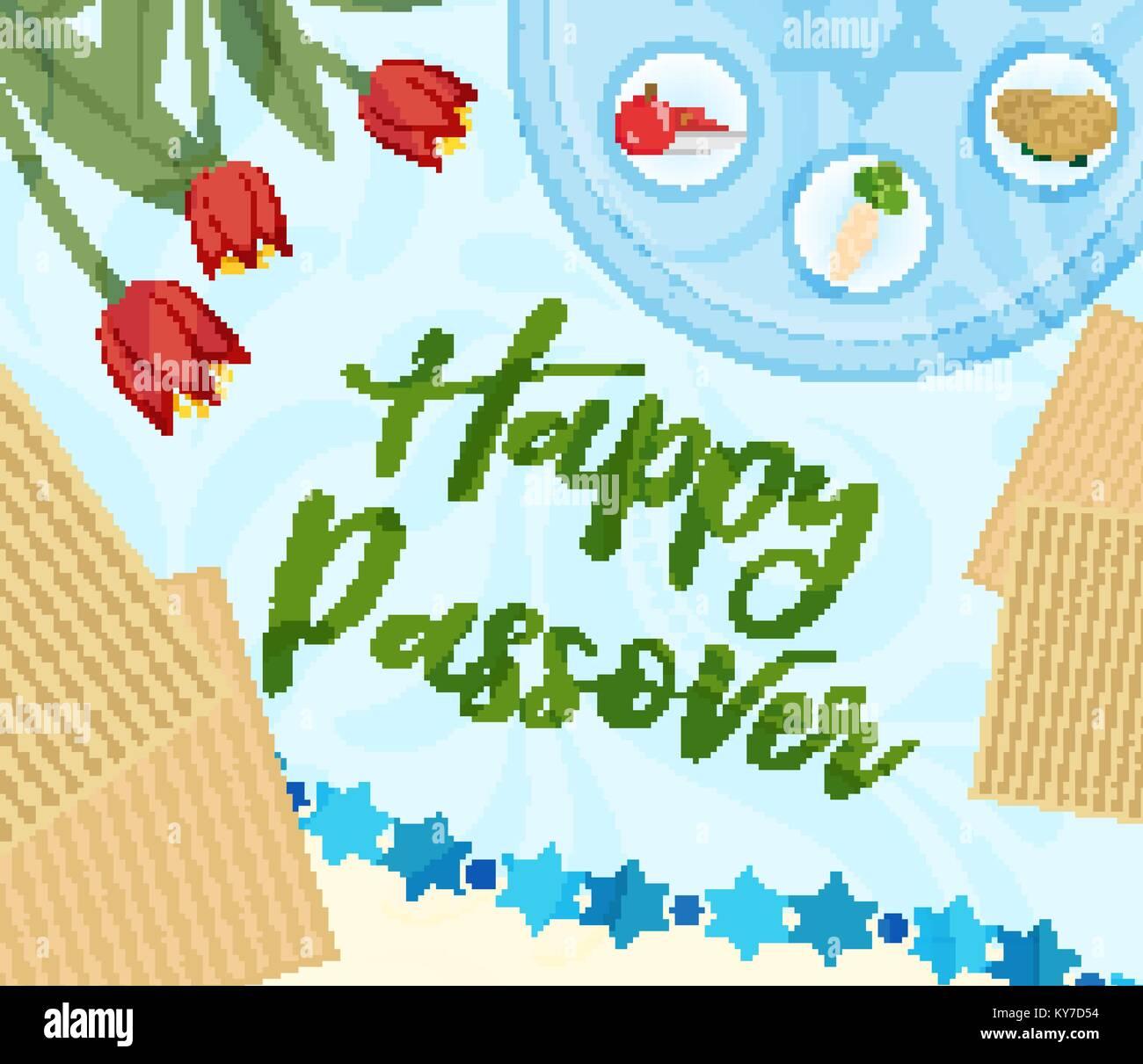 Passover poster invitation flyer greeting card pesach template passover poster invitation flyer greeting card pesach template for your design with festive seder table kosher food matzah david star m4hsunfo