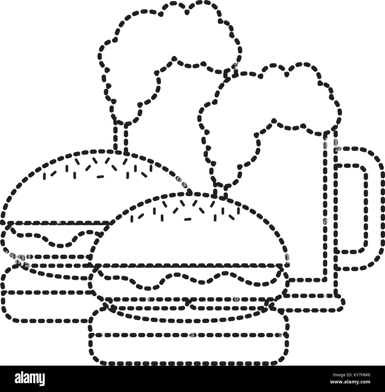 Retro American Burger Bar Stock Photos & Retro American Burger Bar ...