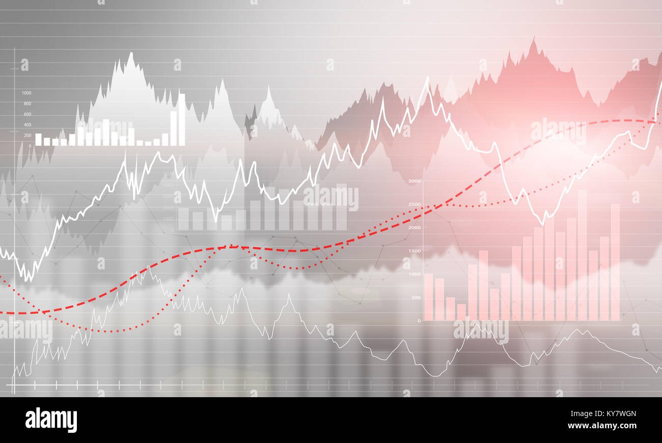 Abstract business chart with uptrend line graph bar chart and stock abstract business chart with uptrend line graph bar chart and diagram in bull market on light grey background with red rose spot ccuart Choice Image