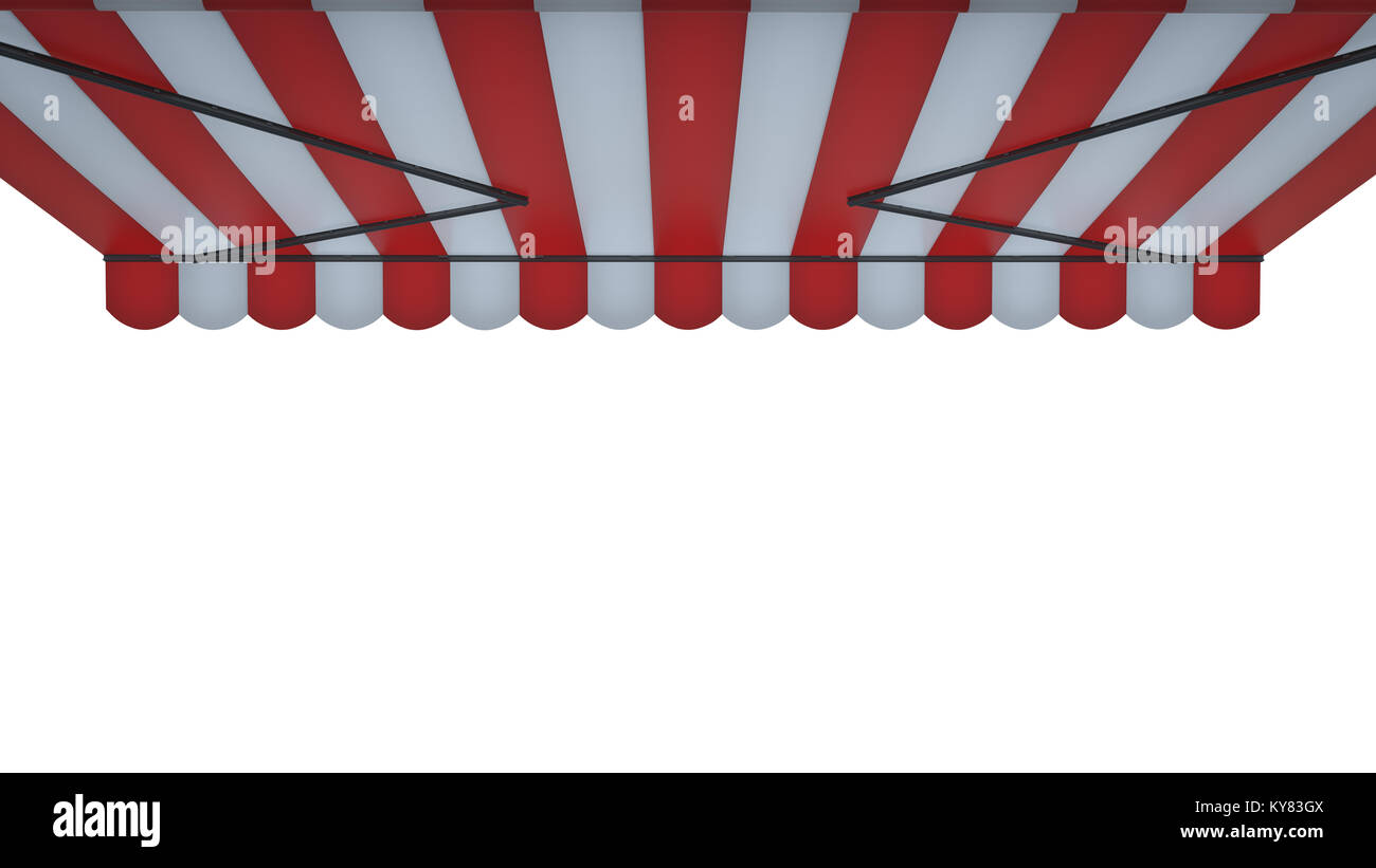 3d Rendering Awning Canopy Or Sunshade Isolated On White