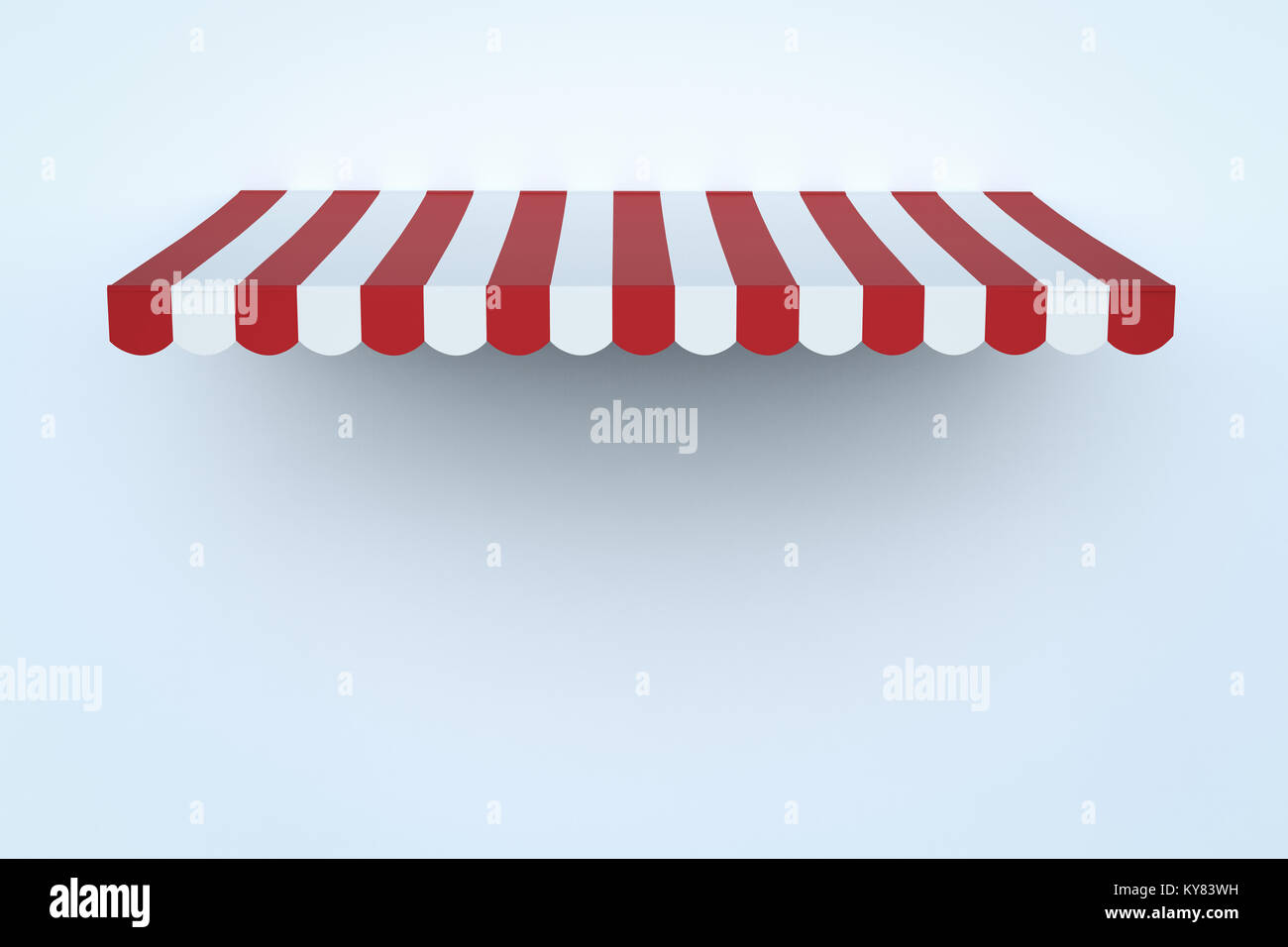 3d rendering awning canopy or sunshade on white wall background  sc 1 st  Alamy & 3d rendering awning canopy or sunshade on white wall background ...