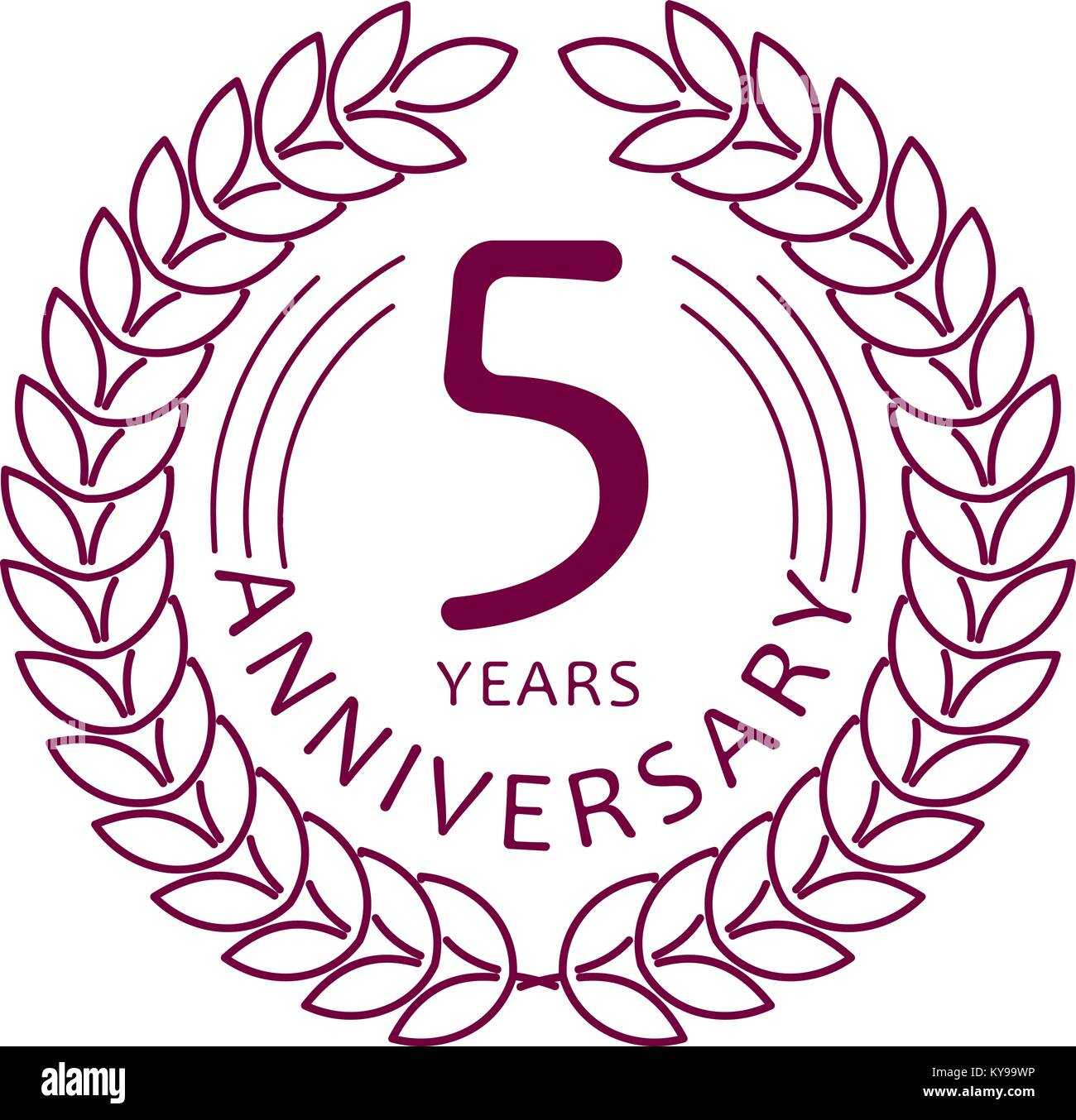 5 year old stock vector images alamy vintage anniversary 5 years round emblem in mono line style stock vector biocorpaavc Choice Image