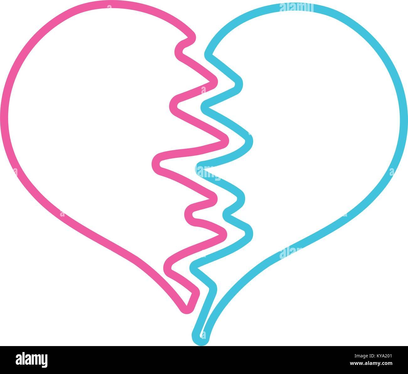 Broken heart symbol stock photos broken heart symbol stock color line heart symbol of love broken design stock image biocorpaavc Images
